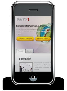 Su página web para móviles